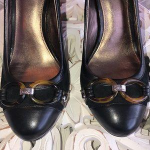 Coach Shoes - ✨ Black Cap Toe Coach heels ✨